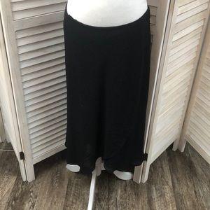 Gorgeous Ruffled Hem Black Skirt